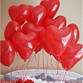 шарики с гелием для влюбленных