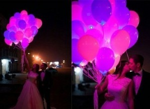 шарики с гелием для свадьбы