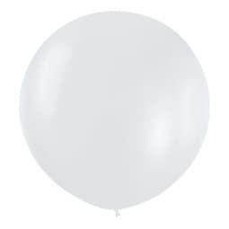Большой шар Белый металлик 76 см.