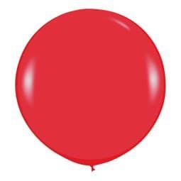 Большой шар Красный пастель 91 см.