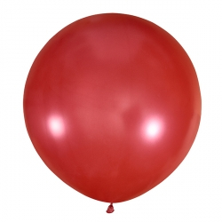 Большой шар Красный металлик 76 см.