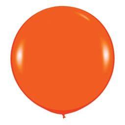 Большой шар Оранжевый пастель 91 см.