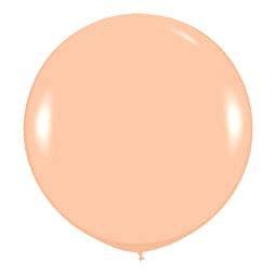 Большой шар Персиковый пастель 91 см.