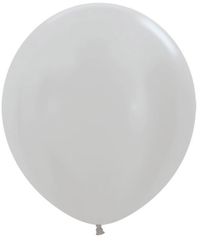 Большой шар Серебро металлик 76 см.