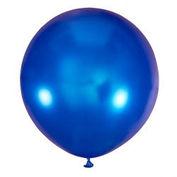 Большой шар Синий металлик 76 см.