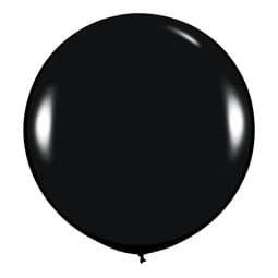 Большой шар Черный пастель 91 см.