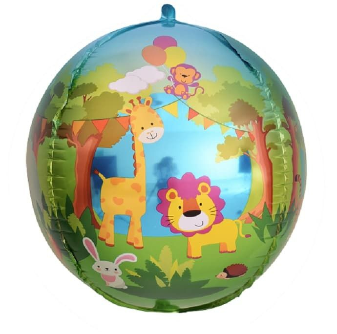 Сфера 3D, Веселые животные (джунгли) 61 см.