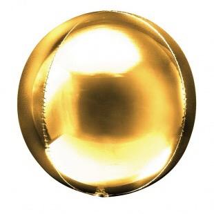 Сфера 3D, Золото 51 см.