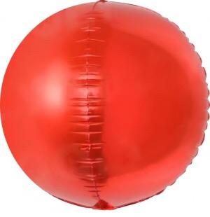 Сфера 3D, Красный 61 см.