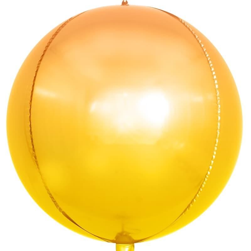 Сфера 3D, Оранжевый Градиент 61 см.