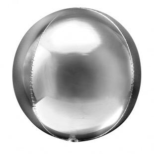 Сфера 3D, Серебро 51 см.