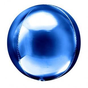 Сфера 3D, Синий 51 см.