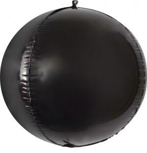 Сфера 3D, Черный 61 см.