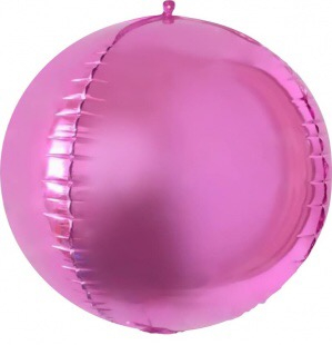Сфера 3D, Розовый 61 см.