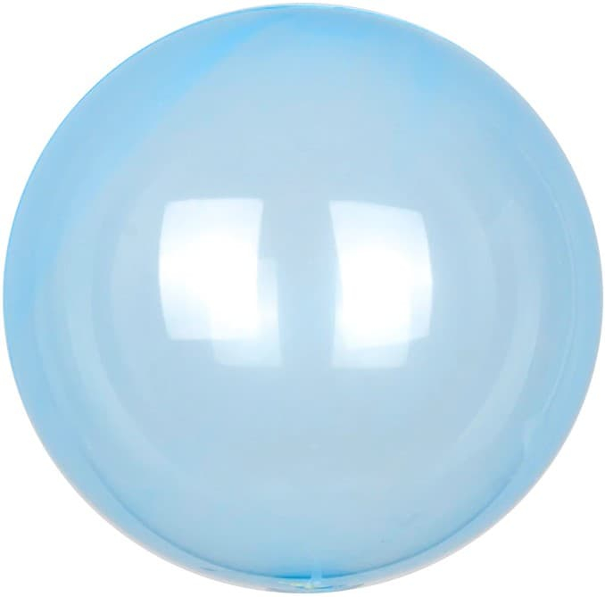Шар Deco Bubble, Голубой Кристалл 46 см.