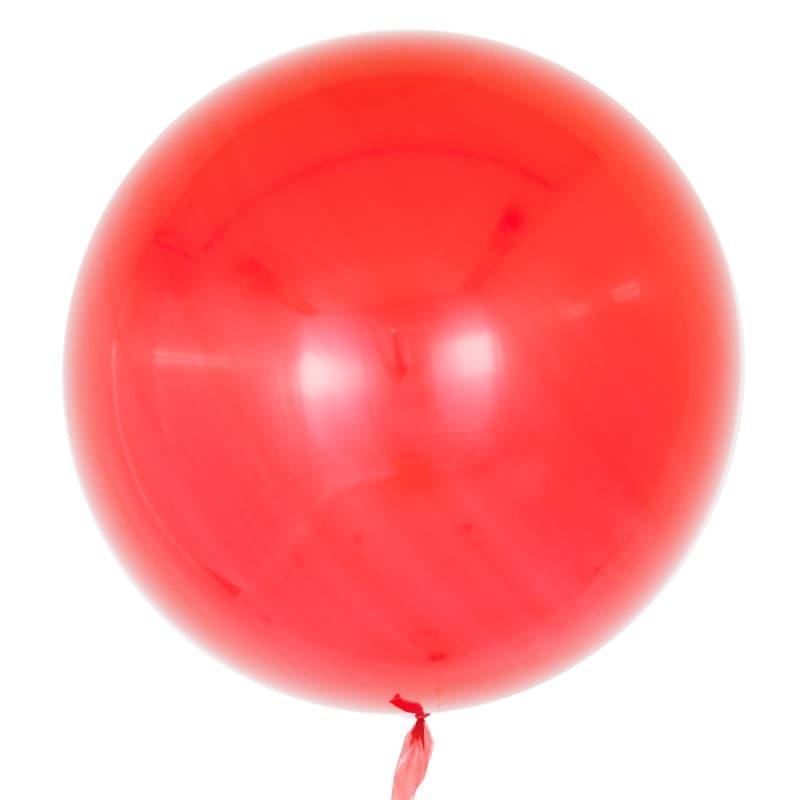Шар Deco Bubble, Красный Глянец 46 см.