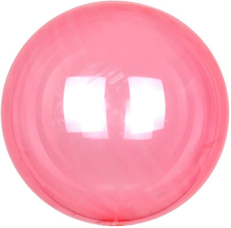 Шар Deco Bubble, Красный Кристалл 46 см.