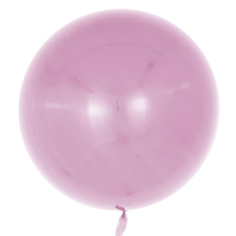 Шар Deco Bubble, Пыльная роза Глянец 46 см.