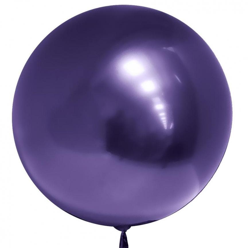 Шар Deco Bubble, Фиолетовый Хром 46 см.