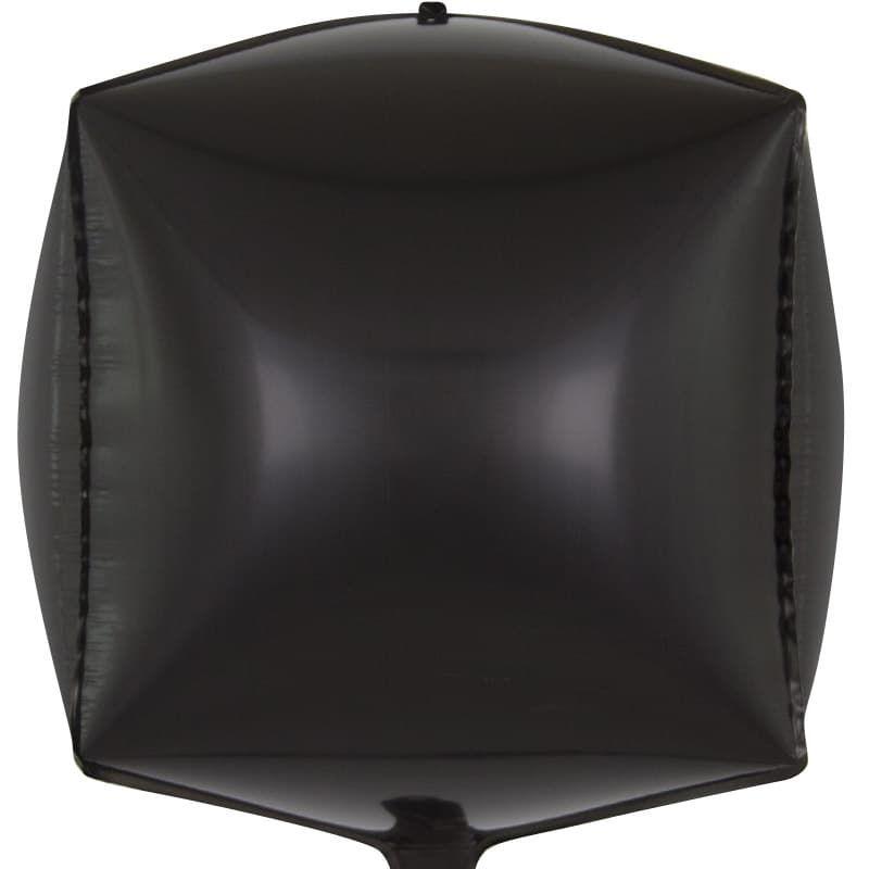 Шар 3D Куб, Черный 61 см.