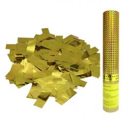 Пневмохлопушка в пластиковой тубе Золотое конфетти 30 см.