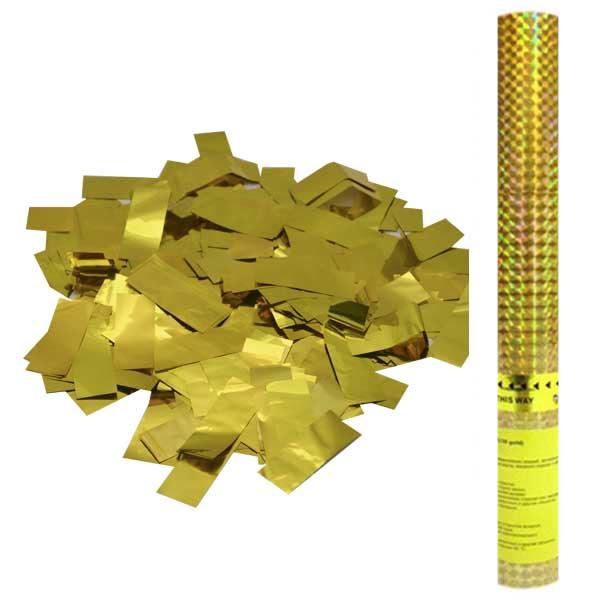 Пневмохлопушка Золотое конфетти 60 см.