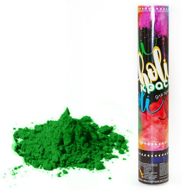 Пневмохлопушка 30 см Краска Холи, Зеленый