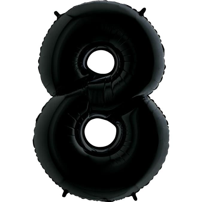 "Шар Цифра ""8"" Черная 102 см."