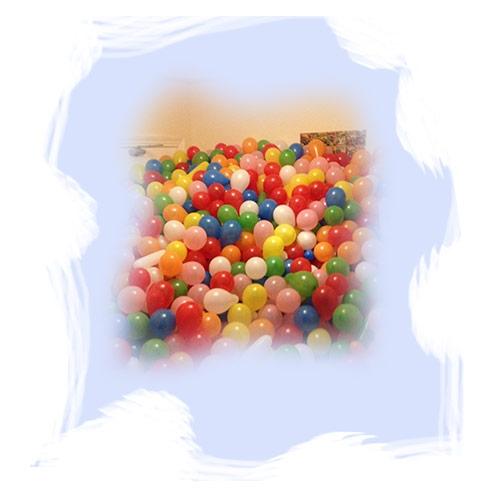 Наполнение комнаты шарами