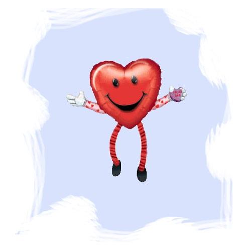Ходячая фигура Сердце 48смХ66см