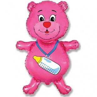 """Фигура """"Медвежонок-девочка, Розовый"""" 94 см."""