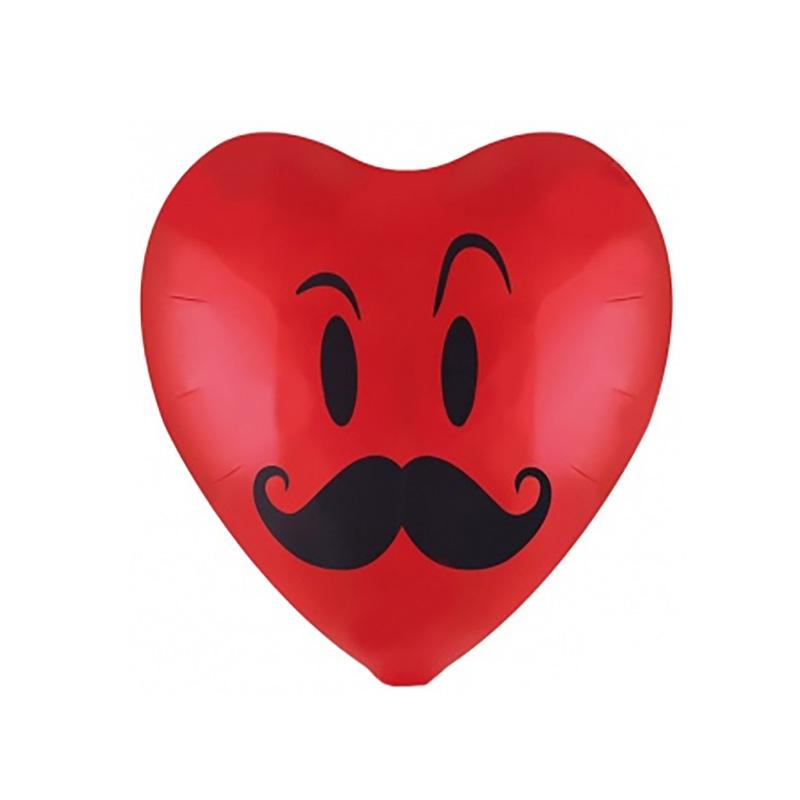 """Сердце """"Смайл с усами"""" 46 см."""