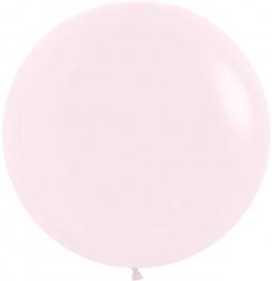 Шар Макарунс Нежно-розовый 61 см.