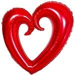 Сердце вензель 102см