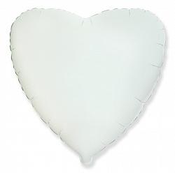 Сердце белое 46 см