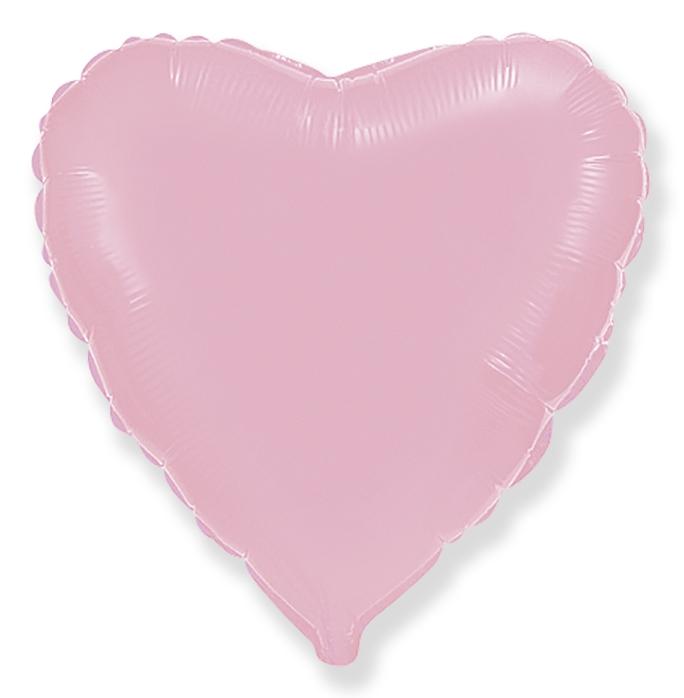 Сердце розовое 46 см.