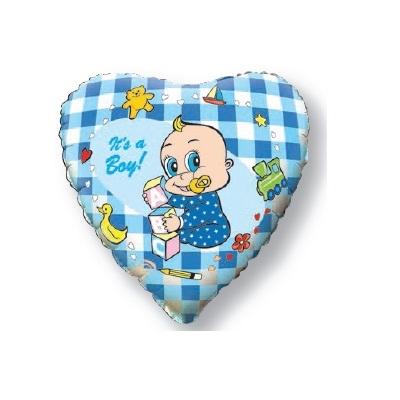 """Сердце """"Новорожденный мальчик"""" 46 см."""