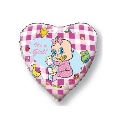 """Сердце """"Новорожденная девочка"""" 46 см."""