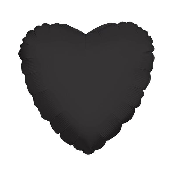 Сердце черное 46 см