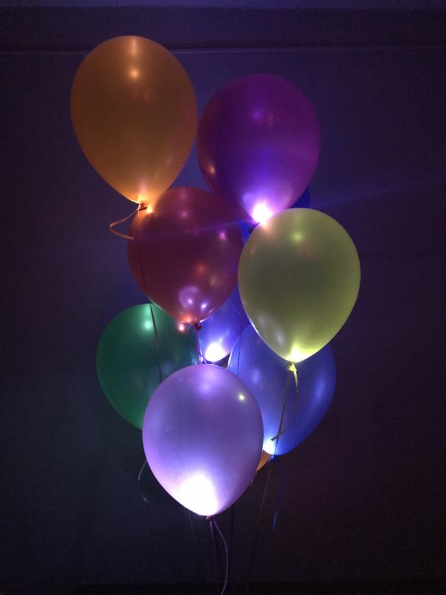 Разноцветные металлик с белыми светодиодами