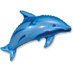 Дельфин голубой 94 см.