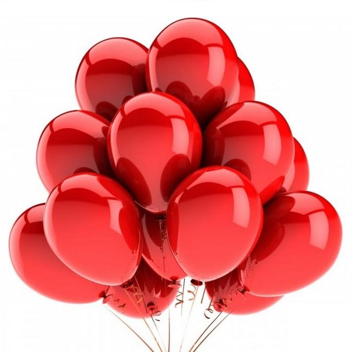 Облако красных шаров