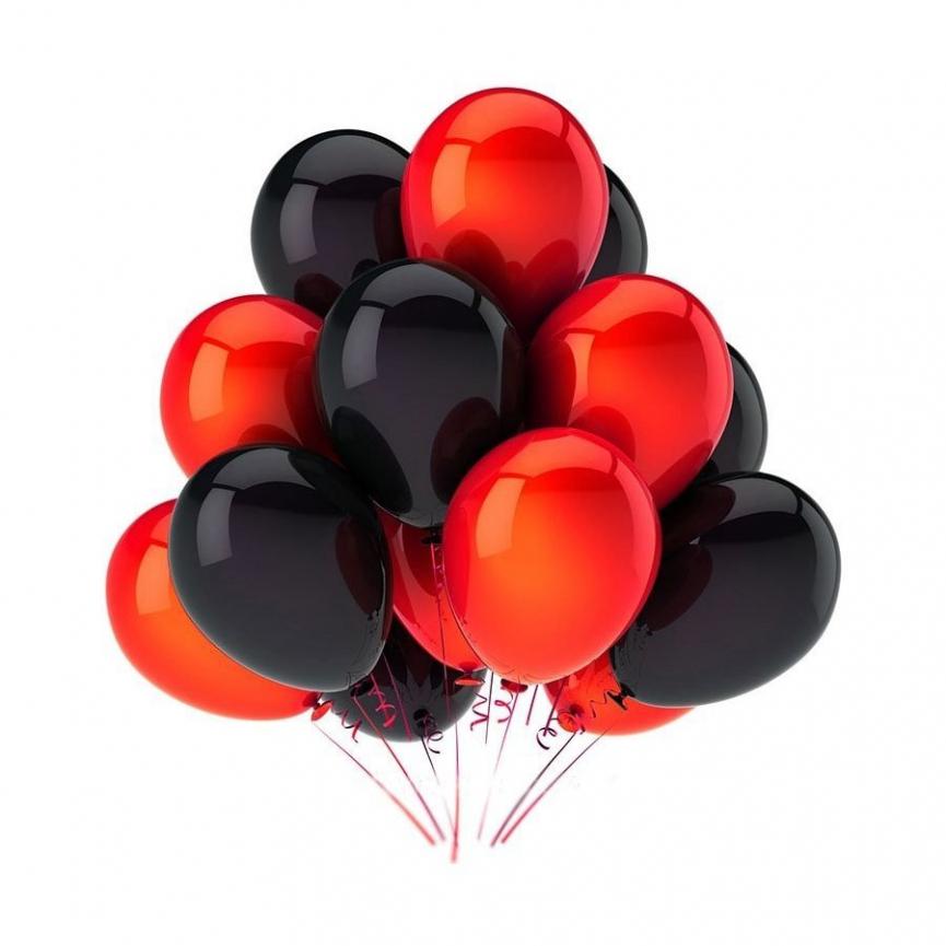 Чёрные и красные шары