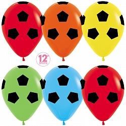 Шар (12''/30 см) Футбольный мяч, Ассорти, пастель, 50 шт.